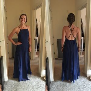 Lulus Mythical Kind of Love Navy Blue Maxi Dress